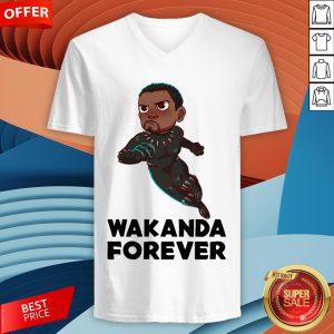 Rip Wakanda King T'Challa Black Panther Chadwick Boseman 1977 2020 Signature V-neck