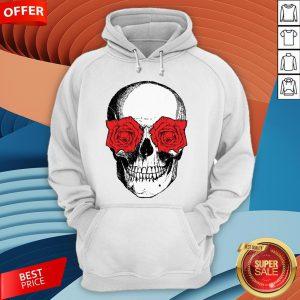 Skull And Roses Flowers Day Of Dead Dia De Los Muertos Vintage Skulls Hoodie