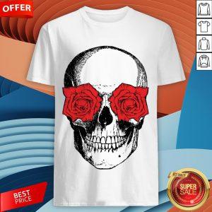 Skull And Roses Flowers Day Of Dead Dia De Los Muertos Vintage Skulls Shirt