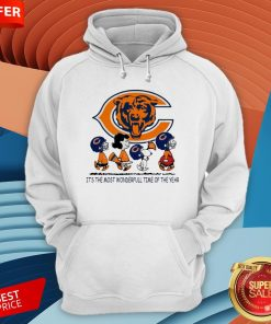 Snoopy And Friends Chicago Bears It's The Most Wonderful Time Of The Year Hoodie