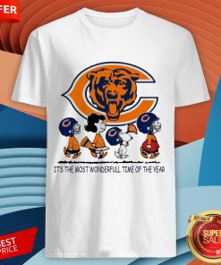 Snoopy And Friends Chicago Bears It's The Most Wonderful Time Of The Year Shirt