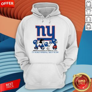 Snoopy And Friends New York Giants It's The Most Wonderful Time Of The Year Hoodie