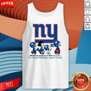 Snoopy And Friends New York Giants It's The Most Wonderful Time Of The Year Tank Top