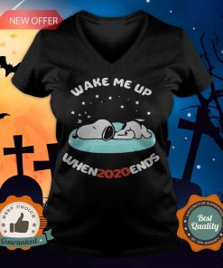 Snoopy Wake Me Up When 2020 Ends V-neck