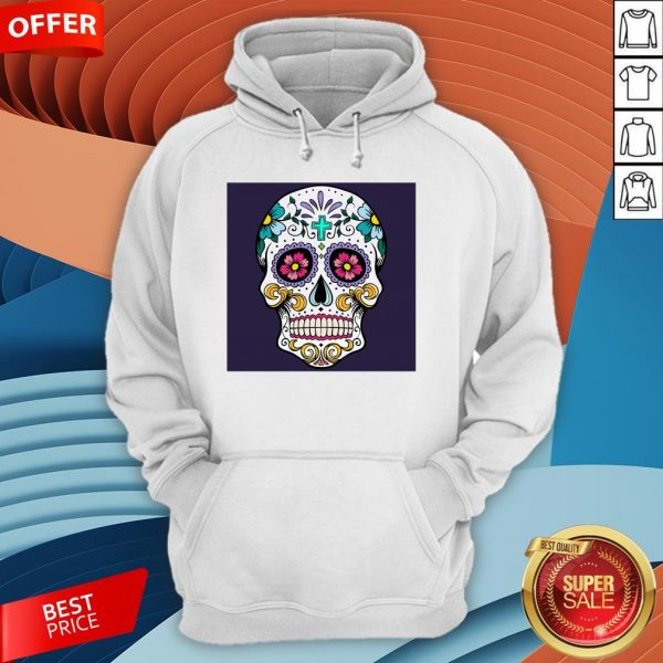 Sugar Candy Skulls Day Of The Dead T-Hoodie