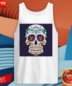 Sugar Candy Skulls Day Of The Dead T-Tank Top