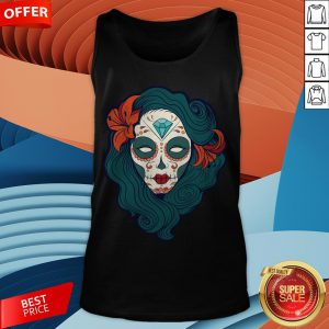 Sugar Skull Girl Day Of The Dead Dia De Muertos TanSugar Skull Girl Day Of The Dead Dia De Muertos Tank Topk Top