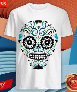 Sugar Skull SF Multi Om White Day Dead Dia De Muertos Shirt