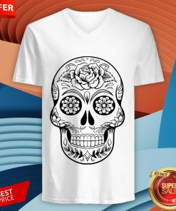 Sugar Skull Tattoos Day Of The Dead V-neck