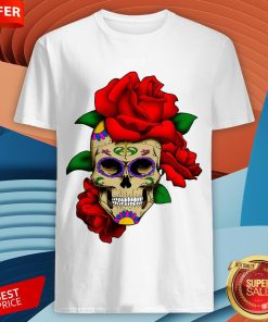 Sugar Skull With Rose Day Of The Dead Dia De Muertos Shirt