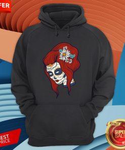 Sugar Skull Woman Day Of Dead Dia De Los Muertos Hoodie