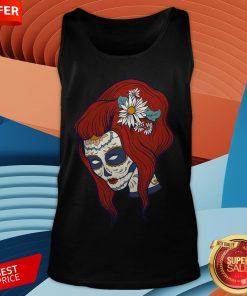 Sugar Skull Woman Day Of Dead Dia De Los Muertos TaSugar Skull Woman Day Of Dead Dia De Los Muertos Tank Topnk Top