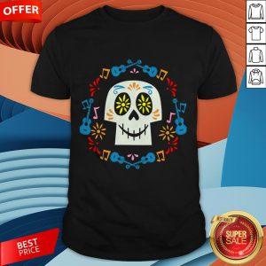 Sugar Skulls Music Day Dead Dia De Los Muertos Shirt