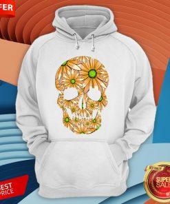 Summer Peach Sugar Skull Day Of The Dead Hoodie
