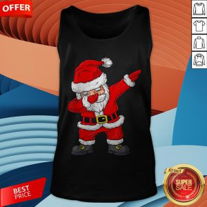 Cute Christmas Dabbing Santa Claus Xmas Tank Top