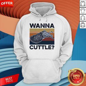 Wanna Cuttle Vintage Retro Hoodie