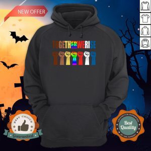 We Rise Together All Lives Matter Hands Symbol LGBT Hoodie