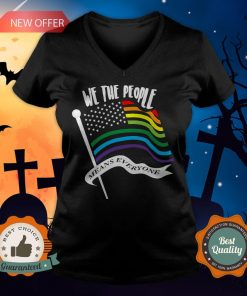 We The People Means Everyone LGBT Flag V-neck