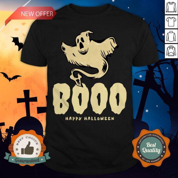 Booo Ghost Happy Halloween Day Shirt