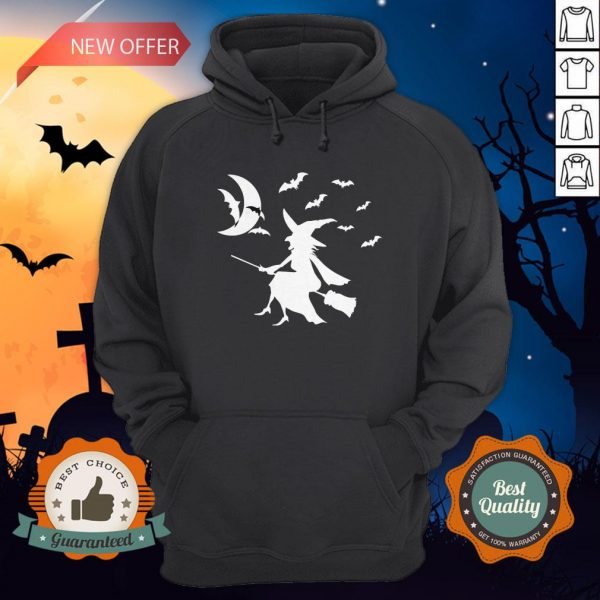 Happy Halloween Day Bats Witch Hoodie