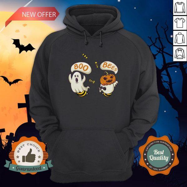 Boo Ghost Bees Pumpkin Halloween Hoodie