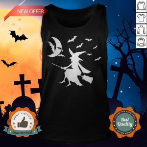 Happy Halloween Day Bats Witch Tank Top