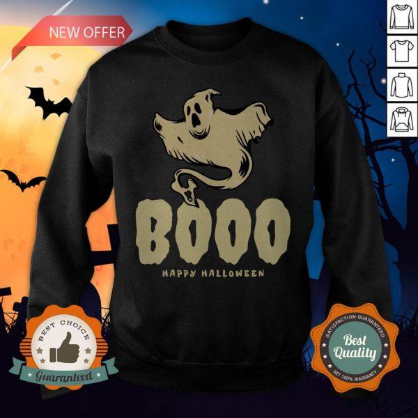 Booo Ghost Happy Halloween Day Sweatshirt