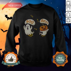 Boo Ghost Bees Pumpkin Halloween Sweatshirt
