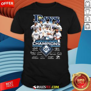 Funny 2020 American League Champions Tampa Bay Rays Signatures Shirt-Design By Rulestee.com