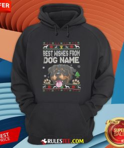Good Best Wishes From Dog Name Christmas Hoodie-Design By Rulestee.com