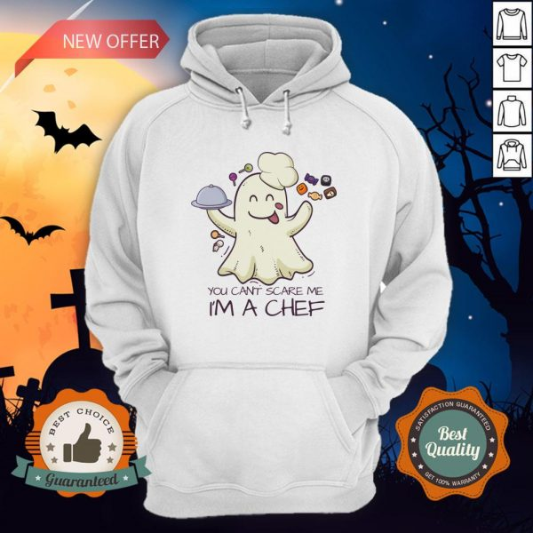 You Can't Scare Me I'm A Chef Boo Halloween Hoodie