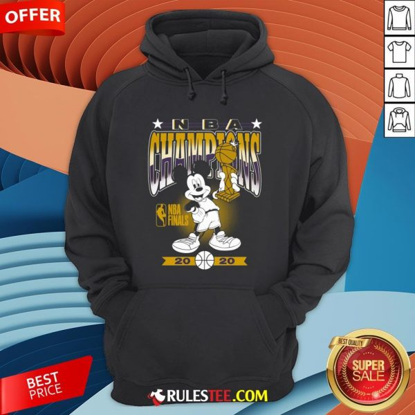 Lakers 2020 NBA Champions Mickey Mouse Hoodie - Design By Rulestee.com