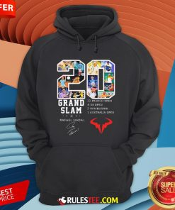 20 Grand Slam Rafael Nadal 13 French Open 4 Us Open 2 Wimbledon 1 Australia Open Hoodie - Design By Rulestee.com