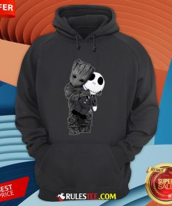 Cute Baby Groot Hug Jack Skellington Hoodie - Design By Rulestee.com