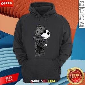 Cute Baby Groot Hug Jack Skellington Hoodie - Design By Rulestee.com