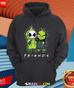 Baby Jack Skeleton And Baby Green Friends Light Christmas Hoodie - Design By Rulestee.com