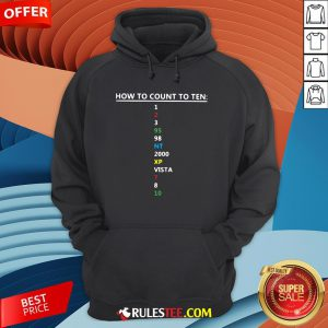 Colorful How To Count To Ten In Software Hoodie - Design By Rulestee.com