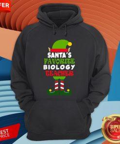 Santas Favorite Biology Teacher Elf Christmas Hoodie
