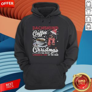 Dachshund Coffee Christmas It's The Most Wonderful Time Of The Year Hoodie