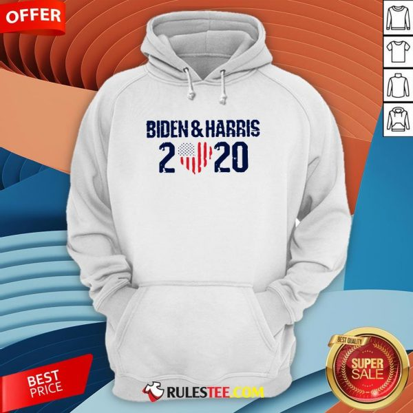 Joe Biden And Harris 2020 Love American Flag Hoodie