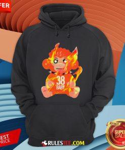 Burning Monkey Doll Never Broke Again 38 Baby Hoodie