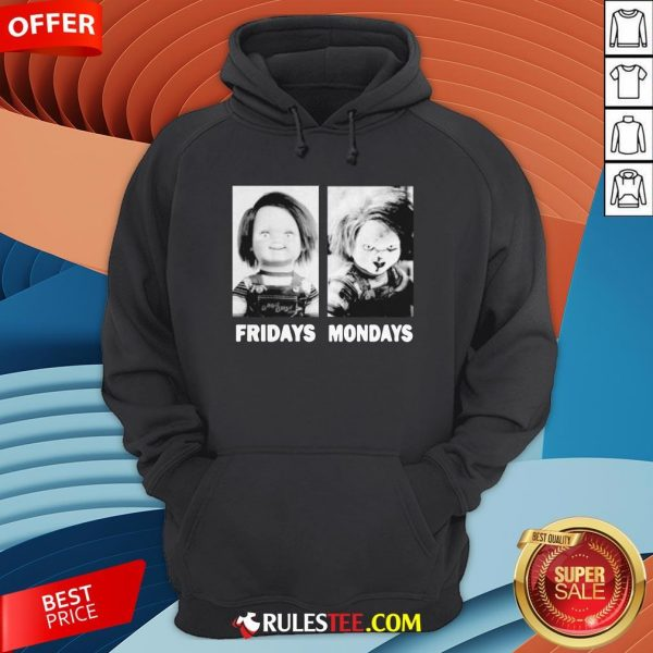 Chucky Doll Fridays And Mondays Halloween Hoodie