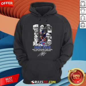 18 Marc Staal New York Rangers 2007 2020 Thank You For The Memories Signature Hoodie - Design By Rulestee.com