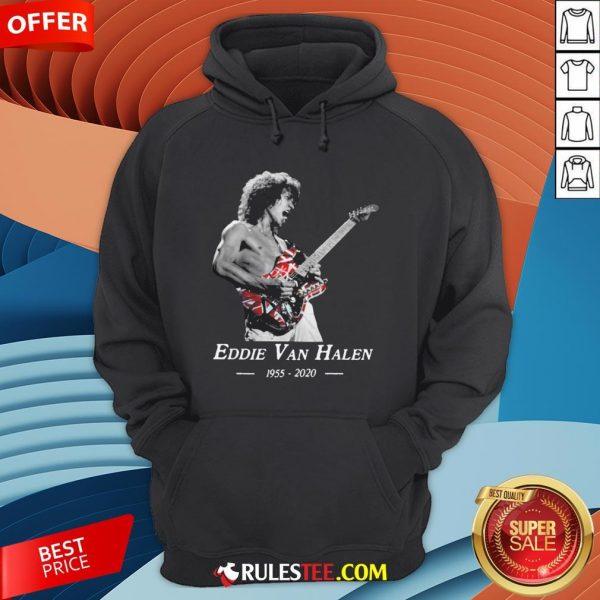 Premium Rip Eddie Van Halen 1955 2020 Hoodie - Design By Rulestee.com