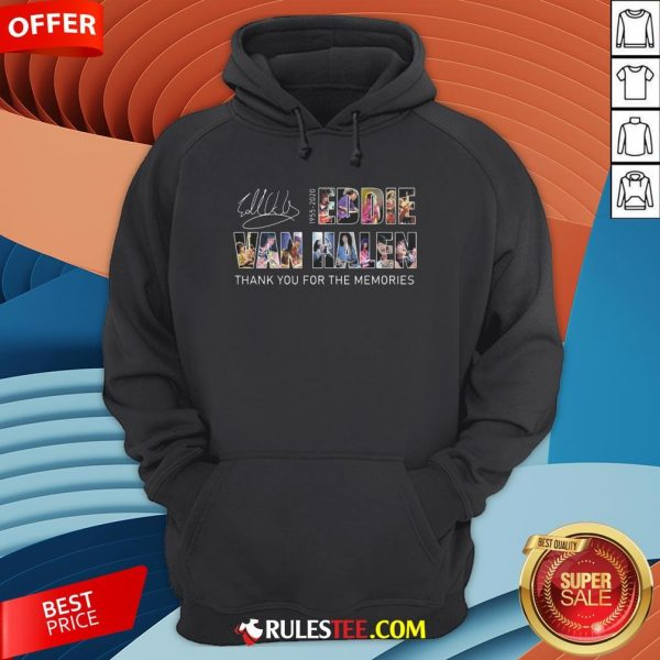 Eddie Van Halen 1955 2020 Thank You For The Memories Signature Hoodie - Design By Rulestee.com