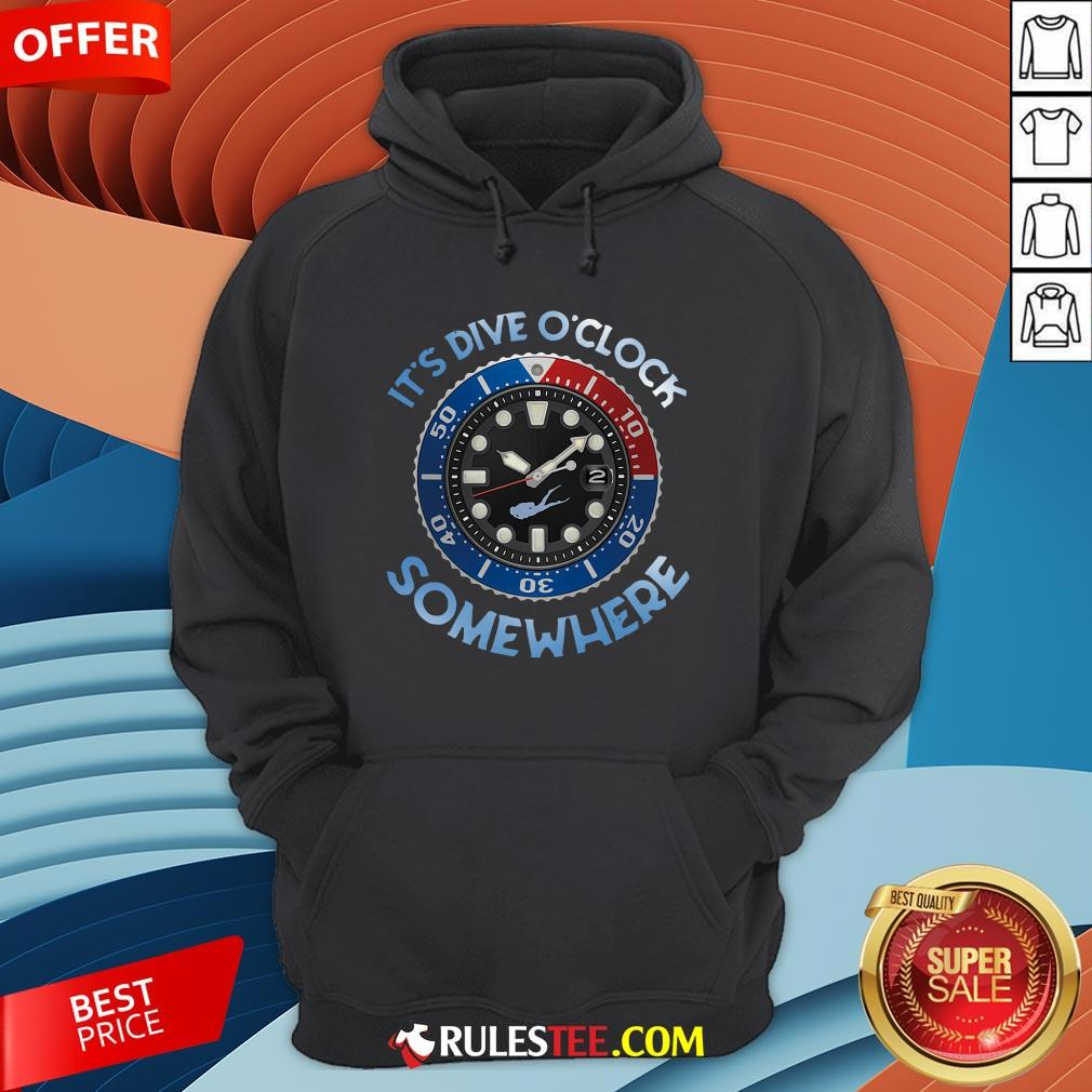 Awesome Scuba Diving It?s Five O?clock Somewhere Hoodie - Design By Rulestee.com