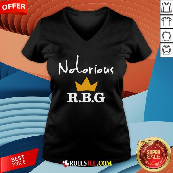 Hot Notorious R.B.G V-neckDesign By Rulestee.com