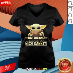 Nice Baby Yodda Am Arsch Lecken Du Mich Kannst V-neck-Design By Rulestee.com