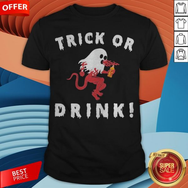 Grateful Ghost Trick Or Drink Halloween Shirt