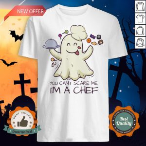 You Can't Scare Me I'm A Chef Boo Halloween Shirt
